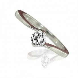 18 Carat White gold 0.25 Carat Diamond Ring D-E Colour, VVS1 Clarity)