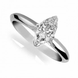 18 Carat White gold 1 Carat Marquise shape Diamond Ring (G Colour. VS1 Clarity)