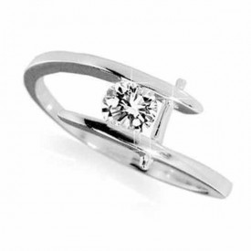 18 Carat White gold 0.20 Carat Diamond Ring (D-E Colour, VVS1 Clarity)
