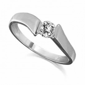 18 Carat White gold 0.25 Carat Diamond Ring (D-E Colour, VVS1 Clarity)