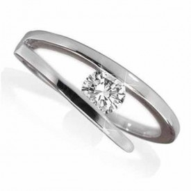 18 Carat White gold 0.25 Carat) Diamond Ring (D-E Colour, VVS1 Clarity)