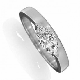 18 Carat White gold 0.33 Carat Marquise shaped Diamond Ring (G Colour, VS1 Clarity)