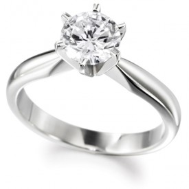 18ct White Gold ONE Carat Diamond Ring (G Colour, VS1 Clarity)