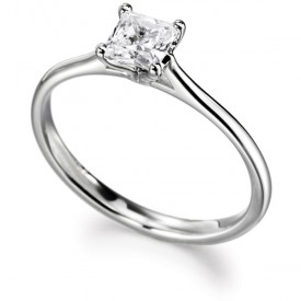 18ct White Gold 0.30 Carat Princess cut Diamond Ring (G Colour, VS1 Clarity)