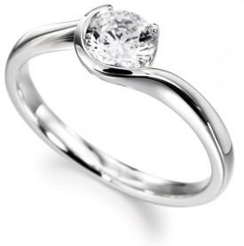 18ct White Gold 0.30 Carat Diamond Ring (G Colour, VS1 Clarity)