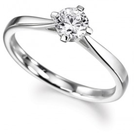 18ct White Gold 0.50 Carat Diamond Ring (G Colour, VS1 Clarity)