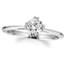 18ct White Gold 0.25 Carat Diamond Ring (G Colour, VS1 Clarity)