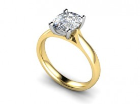 18 Carat Yellow and White gold 7mm x 5mm Oval Diamond Ring..