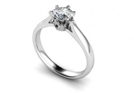 18 Carat White gold Traditional 0.25/0.30/0.50/0.75/One Carat Brilliant cut Diamond Ring..