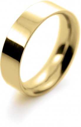 9 Carat Yellow gold 4/5/6/7mm Flat Court Wedding Ring…