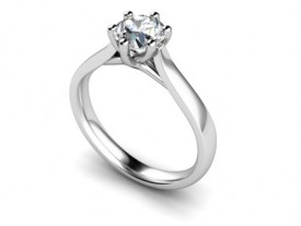 18 Carat White gold 0.20…0.25…0.30…0.50…0.75…1 Carat Brilliant cut Diamond Solitaire Ring..