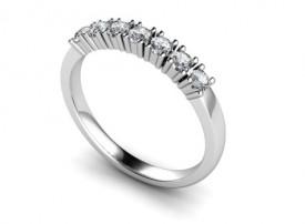 18 Carat White gold Seven stone Brilliant cut Diamond Half Eternity Ring..