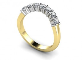 18 Carat Yellow and White gold shaped eternity ring