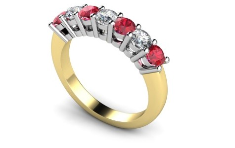 ruby and dia ring