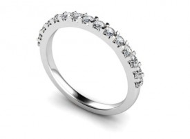18 Carat White gold 15 stone Half Eternity Ring