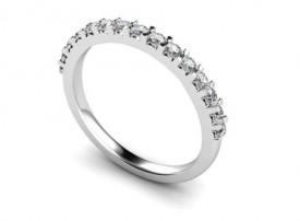 18 Carat White gold 15 stone Half Eternity Ring