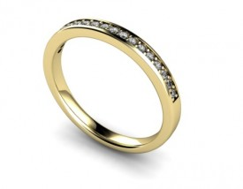 18 Carat Yellow gold 16 Stone Diamond Half Eternity Ring