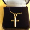 9 Carat Yellow gold Cross and Necklet